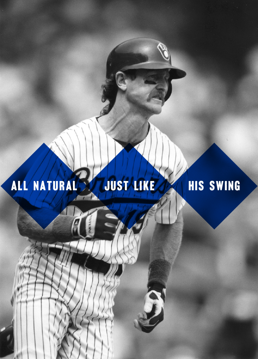 Photo of Robin overlay text all natural just like his swing